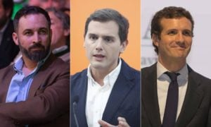 Abascal, Rivera y Casado. | Cordon Press