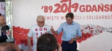 Lech Walesa y Leszek Balcerowicz | Marek Tatala / Twitter