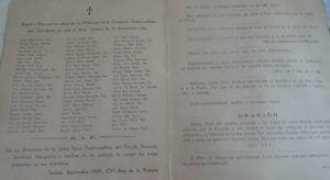 Recordatorio de la Comunión Tradicionalista de Tortosa en honor de sus mártires.Septiembre de 1939.